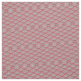 mermaid scales Thunder_Cove grey/red Fabric