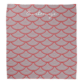 mermaid scales Thunder_Cove red/grey Head Kerchiefs
