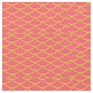 mermaid scales   Thunder_Cove red/yellow Fabric