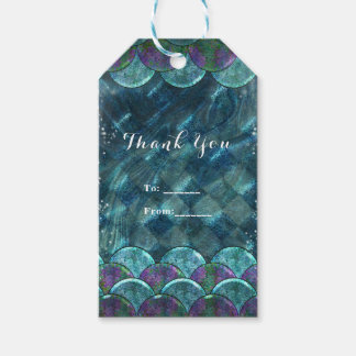 Mermaid Scales Under the Sea Birthday Party Favor Gift Tags