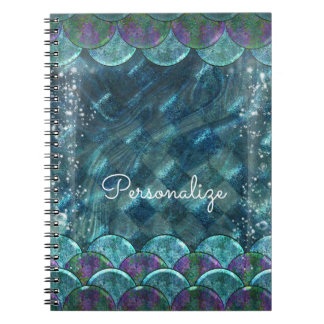 Mermaid Scales Under the Sea Enchanted Magical Spiral Notebook