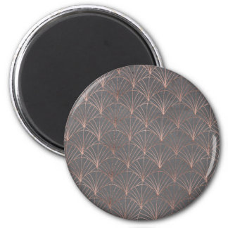 Mermaid scallop rose gold grey cement pattern magnet