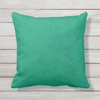 Mermaid Sea Green Velvet Look Outdoor Cushion