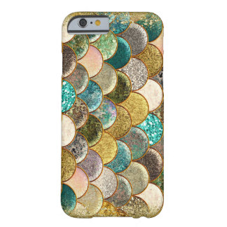 Mermaid Sea Scales Beachy Mulit Color Glam Glitter Barely There iPhone 6 Case