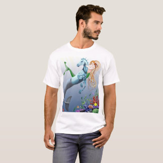 Mermaid Seahorse Fantasy Illustration shirt