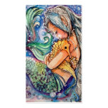 Mermaid & Seahorse Hugs.. Business Card