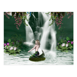 Mermaid Shower Postcard