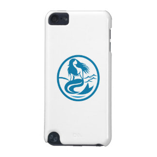 Mermaid Siren Sitting Singing Oval Retro iPod Touch 5G Covers
