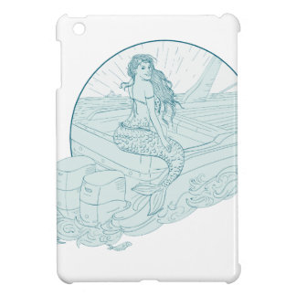 Mermaid Sitting on Boat Drawing Case For The iPad Mini
