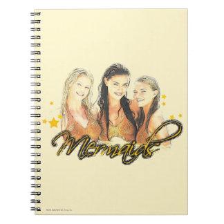 Mermaid Sketch Spiral Notebook