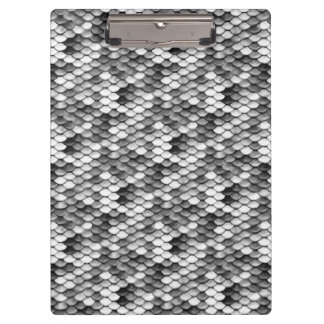 mermaid skin in black and white (pattern) clipboard