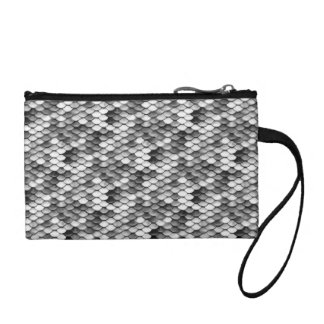 mermaid skin in black and white (pattern) coin purse