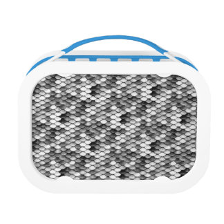 mermaid skin in black and white (pattern) lunch box