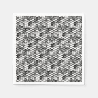 mermaid skin in black and white (pattern) paper napkin