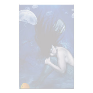Mermaid Sleeping at the Bottom of the Ocean Personalised Stationery
