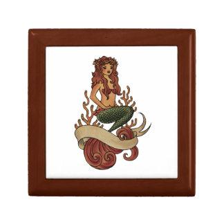 mermaid small square gift box