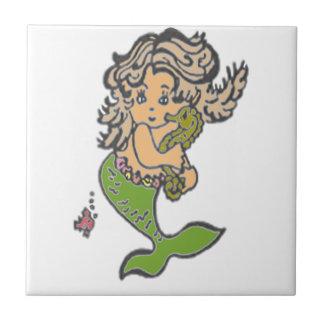 Mermaid Small Square Tile