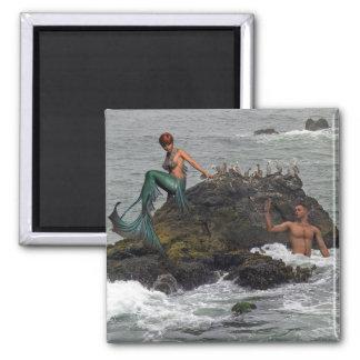 Mermaid Square Magnet