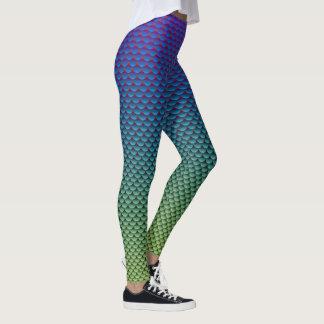 Mermaid Style ~ Blue & Green Leggings
