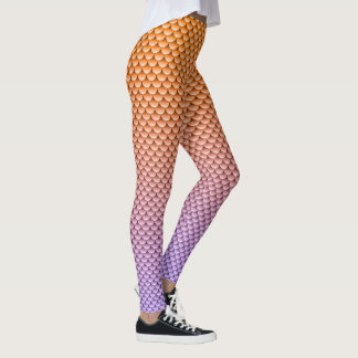 Mermaid Style ~ Orange & Purple Leggings