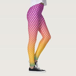Mermaid Style ~ Purple, Yellow & Green Leggings