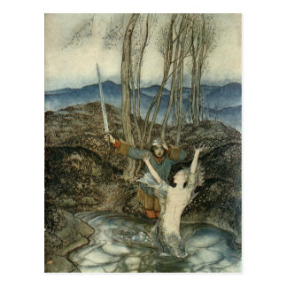 Mermaid & Swordsman Postcard