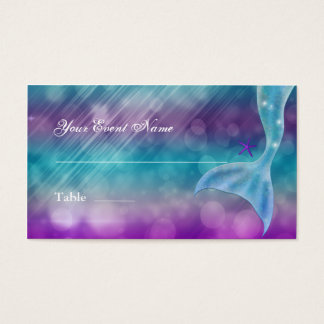 Mermaid Tail Enchanted Under The Sea Table Seating Business Card