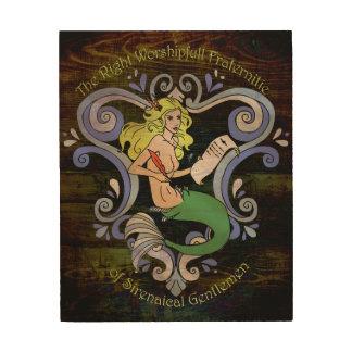 Mermaid Tavern Sign Wood Canvases