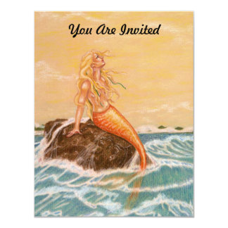 MERMAID THEMED PARTY INVITATION ~ EZ TO CUSTOMIZE