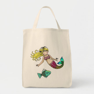 Mermaid Tote Bag by Molly Harrison