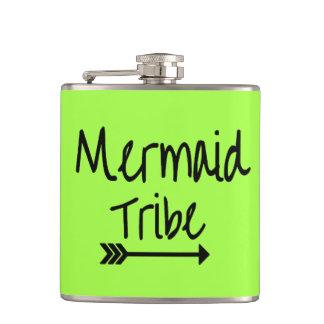 Mermaid Tribe Bachelorette Wedding Vinyl Flask