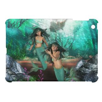 mermaid-twins-1 iPad mini case