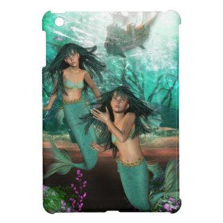 mermaid-twins-1 case for the iPad mini