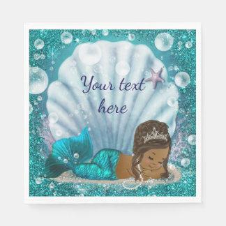 Mermaid Under The Sea Paper Napkins