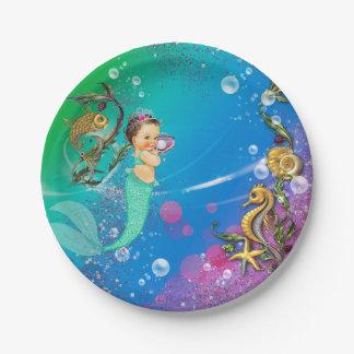 Mermaid Under the Sea Paper Plate