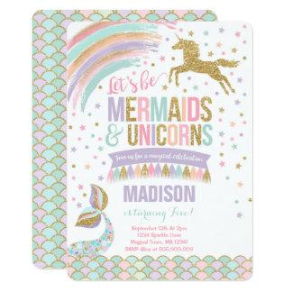 Mermaid & Unicorn Birthday Invitation Magic Party