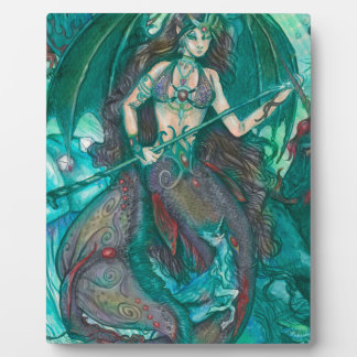Mermaid Unicorn Ocean Sea Teal Green Plaque