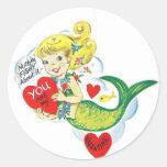 Mermaid Valentine Sticker