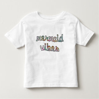 Mermaid Vibes Colorful Watercolor Toddler T-Shirt