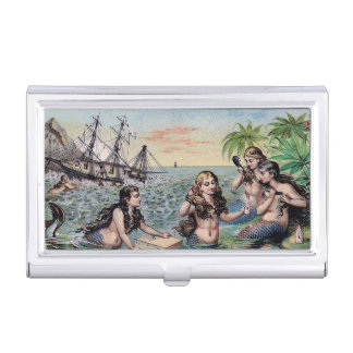 Mermaid Vintage Antique Magic Nautical Business Card Holder
