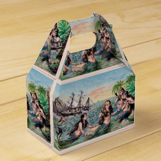 Mermaid Vintage Antique Magic Nautical Favour Box