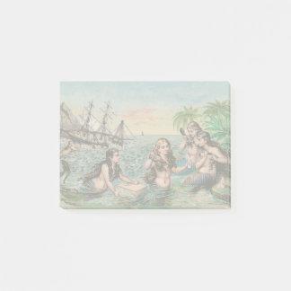 Mermaid Vintage Antique Magic Nautical Post-it Notes