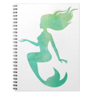 Mermaid watercolor notebook