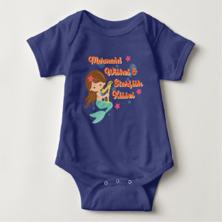 Mermaid Wishes Starfish Kisses Baby Bodysuit