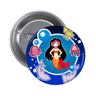 Mermaid with Attitude Personalized Button