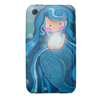 Mermaid with bright pearl  iPhone 3G/3GS Case