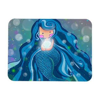 Mermaid with bright pearl premium magnet