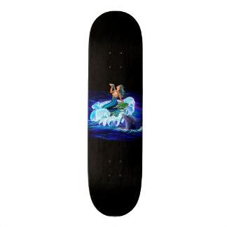 Mermaid with Dolphin 18.1 Cm Old School Skateboard Deck