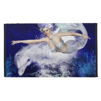 Mermaid with Dolphin iPad Case