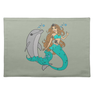 Mermaid with Dolphin Placemat